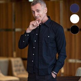 AKM Contemporary エイケイエムコンテンポラリー カジュアルポケット シャツ メンズ 長袖 カジュアル ビジネス フォーマル おしゃれ かっこいい ブランド