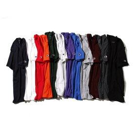 Champion(チャンピオン)ベーシック半袖クルーネックTシャツ(ダークグリーン/ブラック/チャコール/グレー/バーガンディ/ネイビー/オレンジ/パープル/ロイヤルブルー/レッド/ホワイト/シルバーグレー)