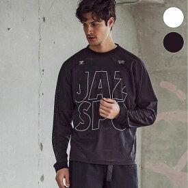 hummel ヒュンメル × Jazzy Sport ジャジースポート 切替 メッシュ ロング Tシャツ トップス コラボ メンズ おしゃれ ブランド