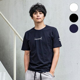 hummel(ヒュンメル)ロゴTシャツ(ホワイト/ブラック/ネイビー)