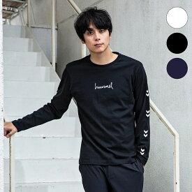 hummel(ヒュンメル) ロングスリーブTシャツ(ホワイト/ブラック/ネイビー)