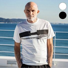1PIU1UGUALE3 RELAX × KAGAFURI KAMAKURA バイカラー ライン メンズ Tシャツ おしゃれ かっこいい ブランド 半袖 トップス ウノピュウ カガフリ ウノピュウ
