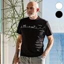 1PIU1UGUALE3 RELAX × KAGAFURI KAMAKURA チェストライン メンズ Tシャツ おしゃれ かっこいい 半袖 トップス ウノピュウ カガフリ ウ…