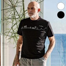 1PIU1UGUALE3 RELAX × KAGAFURI KAMAKURA チェストライン メンズ Tシャツ おしゃれ かっこいい 半袖 トップス ウノピュウ カガフリ ウノピュウ