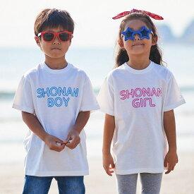 KAGAFURI KAMAKURA(カガフリ カマクラ) SHONAN BOY&GIRL キッズTシャツ(ブルー/ピンク)