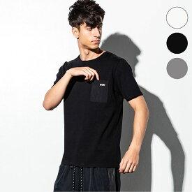 NUMBER (N)INE DENIM ナンバーナインデニム コンビーネーション ポケット メンズ Tシャツ おしゃれ かっこいい ブランド 半袖 トップス ストリート スポーツ ウェア