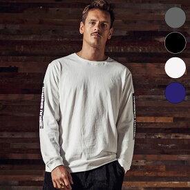 NUMBER (N)INE DENIM ナンバーナインデニム スリーブラインロゴ ロングTシャツ メンズ ロンT 長袖 カットソー おしゃれ かっこいい ブランド ストリート