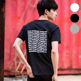 NUMBER (N)INE DENIM ナンバーナインデニム バック プリント メンズ Tシャツ おしゃれ かっこいい ブランド 半袖 トップス ストリート スポーツ ウェア