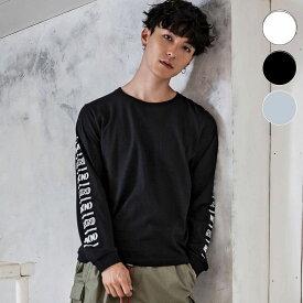 NUMBER (N)INE DENIM ナンバーナインデニム テープロゴ ロング スリーブ メンズ Tシャツ おしゃれ かっこいい ブランド ロンT トップス ストリート スポーツ ウェア