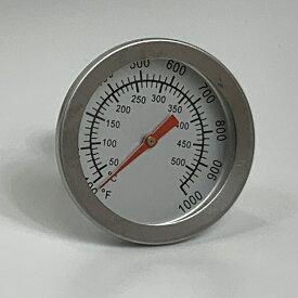 ピザ窯フタ取り付け用温度計 500度(サイズ・直径:52mm 高さ:52mm) 素材・ステンレス (加工用ドリルの刃は7.5mmです) 電池は使用しません。