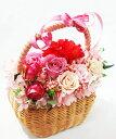 母の日バスケット薔薇とカーネーション