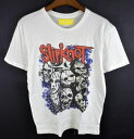 【s50】メール便可 未使用 Slipknot半袖プリントTシャツL 白 &スリップノットロック 5400円以上ご購入で送料無料【BI…