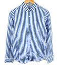 メール便可 ZUCCa ズッカ スタンダードカラー 長袖ストライプシャツ L 白青 □ 5400円以上ご購入で送料無料【BIG2nd福…