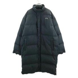 【中古】 アンダーアーマー 中綿 ロング ベンチコート SM ブラック UNDER ARMOUR フード付き メンズ 【201225】