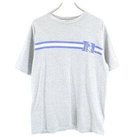 【中古】 アディダス 90s USA製 半袖 Tシャツ M グレー adidas BLUE DEVILS adidas SOCCER コラボ メンズ メール便可 【200403】