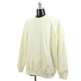 新品 クオルト TECK-FLEECE CUTSEW カットソー XL quolt 裏起毛 プルオーバー カンガルーポケット オフホワイト メンズ 【200227】