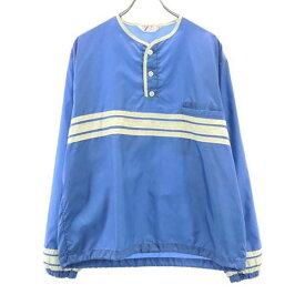 【中古】 80s ジャケット L 青系 BIG T FASHIONS martin ナイロン メンズ 【200417】