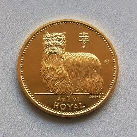 【金貨 純金 コイン】24金 ドック金貨(犬) 1オンス 1997年製 英領ジブラルタル発行 保証書付 ゴールドコイン ボックス付きdog coin いぬ ロイヤル クラウン ドッグ