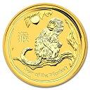 【純金 コイン 金貨】(純金コイン)24金 干支 金貨 猿 申 1オンス 2016年 オーストラリアパース発行 クリアケース付 (…