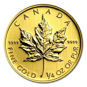 【純金 コイン 金貨】24金 メイプル金貨 1/4オンス カナダ王室造幣局