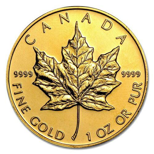【送料無料】【純金コイン】24金 純金 メイプル金貨 1オンス カナダ王室造幣局 保証書付き純金 金 ゴールド コイン エリザベス 99.99% 硬貨 貨幣 K24 メイプルリーフ メープルリーフ