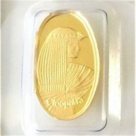 【純金 コイン 金貨】(純金コイン)24金 クレオパトラ金貨 1g スイス パンプ 金 ゴールド 99.99% 24k k24 gold ingot cleopatra coin suisse pamp
