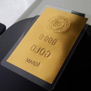 純金カード日本の徳力。24金カード徳力ロゴ1g、24金1gをカードサイズにのばしました。お守りに。贈り物に。
