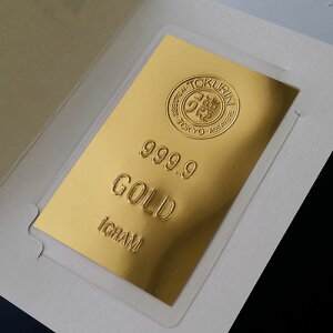 純金カード徳力ロゴ1g