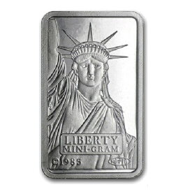 【プラチナ インゴット リバティー】(インゴット スイスクレジット)スイスクレジット プラチナバー 2g 純プラチナ 白金 白金貨 地金型 自由の女神