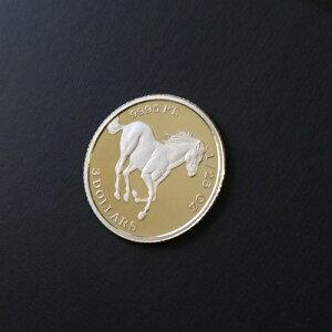 プラチナ コイン ツバルホース 1/25オンス ツバル政府発行 馬 プラチナ貨 Pt9995