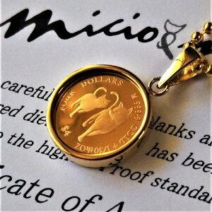 【純金 コイン ネックレス】24金 ねこのミーチョとミーチャ金貨 1/30オンス 2020年製 18金ガラス伏込み枠金貨 K24 イタリア ネコ 親子 マザーズラブコイン cats jewelry ペンダント キャット猫 ゴー