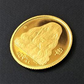 【金貨 純金 コイン】24金 ロイヤルドック金貨 1/25オンス 1992年製 英領ジブラルタル発行 保証書付 ゴールドコインdog coin 犬 いぬ クラウン