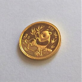 24金 純金パンダ金貨 1g 1991年製 中国人民銀行金 ゴールド 99.9% 24k k24 gold ぱんだ 3元