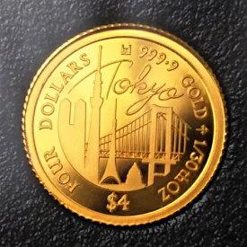 24金 2020年 東京コイン 1/30オンス 保証書・ボックス付き金貨 K24 ゴールドコイン tokyo 2020 japan