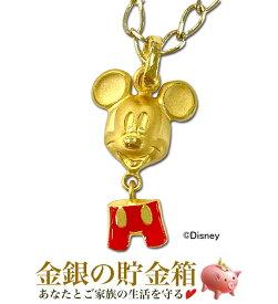 【クーポン対象】『ミッキーマウス ミッキーのショートパンツ付きペンダント』純金 ペンダント 1.9g K24 99.99% 純金 アクセサリー Disney Mickey Mouse ミッキー ディズニー チャーム ショートパンツ〈チェーン45cm 〉《安心の本物保証》【保証書付き・チェーン付き】