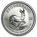 【新品】『クルーガーランド銀貨 1オンス 2020年製 クリアケース入り』純銀 コイン 南アフリカ共和国造幣局発行 31.1g…