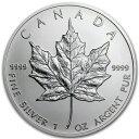☆送料無料☆【メイプル銀貨 1オンス 25枚セット クリアケース入り】メイプル銀貨 カナダ王室造幣局発行 純銀 コイン …