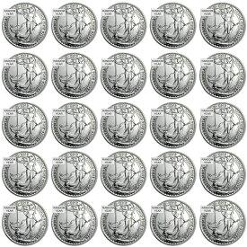 ★25個セット★【新品・未開封】『ブリタニア銀貨 1オンス ランダム・イヤー 25個セット』イギリス王立造幣局発行 31.1gの純銀 x 25枚品位:99.9% 純銀 シルバー コイン銀の購入 貴金属 販売 銀 地金 女神 銀貨 イギリス 贈り物《安心の本物保証》【保証書付き】