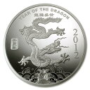 【新品・未開封】『干支龍銀貨 ドラゴン 1/2オンス 2012年製 クリアケース入り』サンシャイン ミント発行 15.5gの純銀…