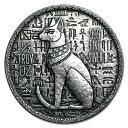 【新品】『エジプト 猫の女神バステト銀貨 1/2オンス クリアケース入り』 モナーク プレシャス メタル発行 15.5gの純…