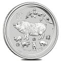 干支亥(ブタ)銀貨1/2オンス2019年オーストラリアパース造幣局