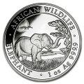 野生生物象銀貨1オンス2019年ソマリア発行
