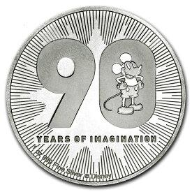 ミッキーマウス 誕生90周年記念銀貨 1オンス 2018年製 小冊子付き 純銀 コイン ニュージーランド造幣局発行 31.1gの純銀 品位:99.9% シルバー ディズニー Disney Mickey アメリカ キャラクター 金 銀 貴金属 販売 コレクション ギフト Silver【保証書付き】