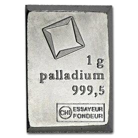 【新品】『スイス ヴァルカンビ パラジウムバー 1g』インゴット スイス・ヴァルカンビ社発行 1g 純パラジウム99.95% 純パラジウムインゴット Palladium パラジウム バー 延べ棒 Pd スイス 貴金属 コレクション ギフト《安心の本物保証》【保証書付き・巾着袋入り】