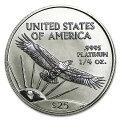 プラチナイーグルコイン1/4オンス1997年製アメリカ合衆国発行(表)