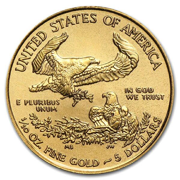 【保証書付き・巾着袋入り】『イーグル金貨 1/10オンス ランダム・イヤー クリアケース入り』アメリカ造幣局発行 3.39gの金貨品位:K22 (91.67%) 22金 ゴールド コインアメリカンイーグル リバティ 女神《安心の本物保証》