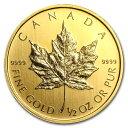 ☆送料無料☆『メイプル金貨 1/2オンス (ランダム・イヤー)』カナダ王室造幣局発行 24金 ゴールドコイン 金貨 メイプ…