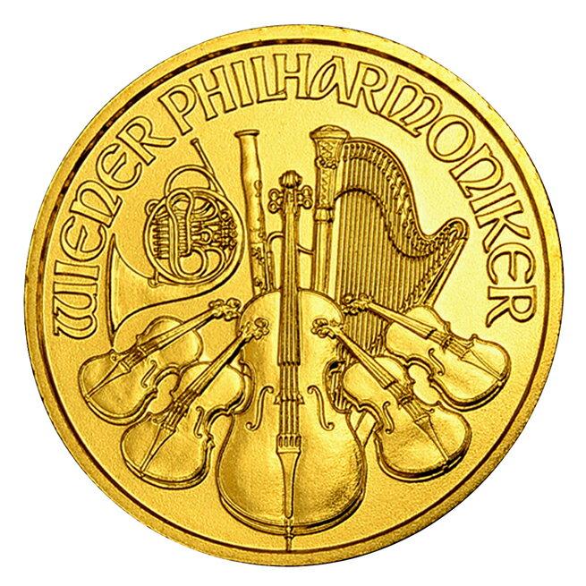 【保証書付き・巾着袋入り】『ウィーン金貨 1/10オンス (ランダム・イヤー) クリアケース入り』 オーストリア造幣局発行 3.11gの純金 品位:K24 (99.99%) 純金 24金 純金コイン ゴールド コイン《安心の本物保証》