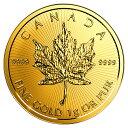 【新品・未開封】『メイプル金貨 1g 2017年製』カナダ王室造幣局発行 1gの純金 24金メイプルリーフ 金貨 地金型 ゴールド コイン 品位:K24 (99...