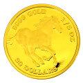 ツバルホース金貨1/5オンス2018年製ツバル政府発行